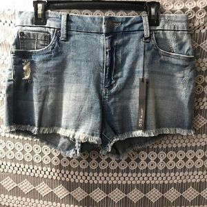 STS Blue denim frayed shorts (Size 28)